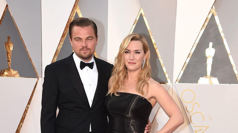 Herec Leonardo DiCaprio a jeho kolegyňa Kate...