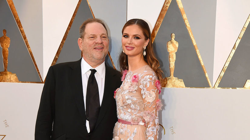 Producent Harvey Weinstein a jeho manželka...