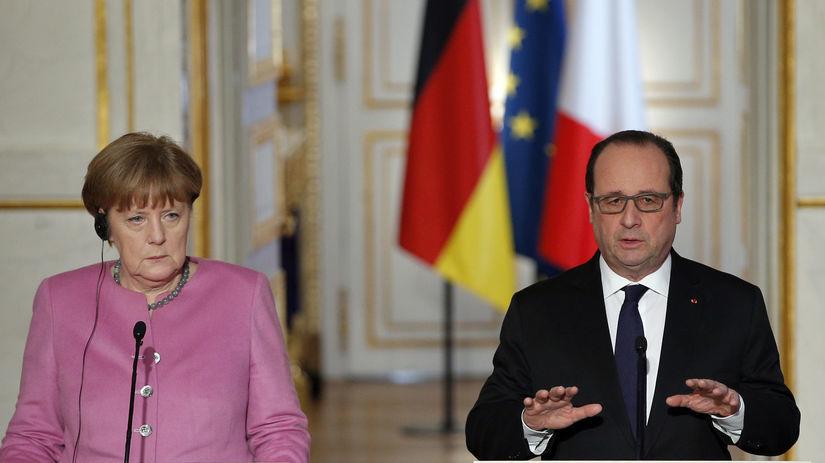 Angela Merkelová, François Hollande
