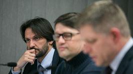 voľby 2016, Fico, Kaliňák, Maďarič, Volebná noc v centrále strany SMER-SD