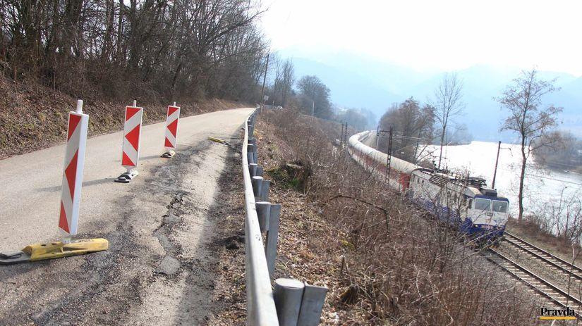 Nezbudská Lúčka, Varín, zosuv, cesta,...