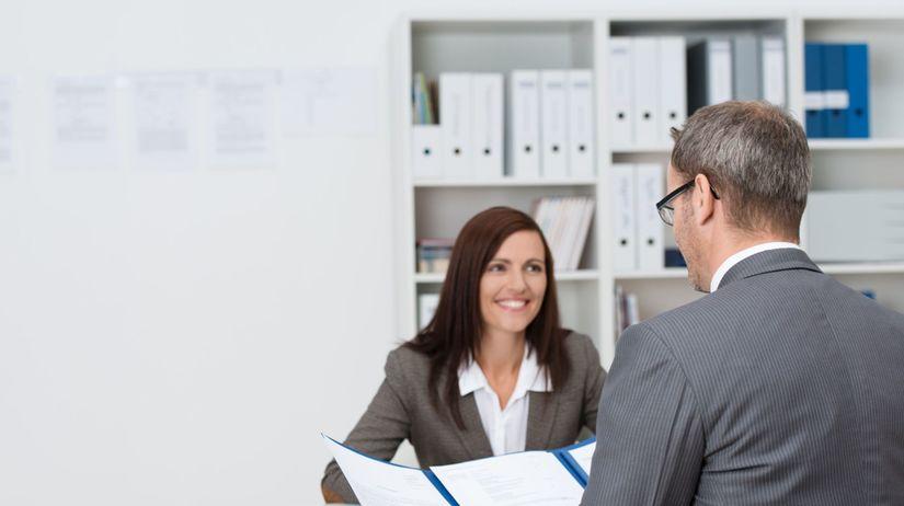 žena, muž, práca, pohovor