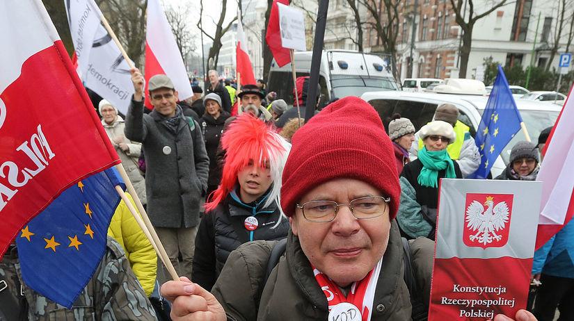 Poľsko, demonštrácia