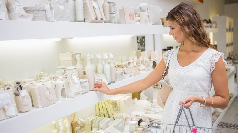 kozmetika, žena, obchod, nákup, nákupný košík,...