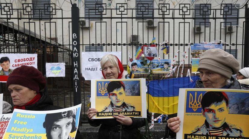 Savčenková, Ukrajina, protest