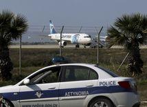 Larnaka, letisko, Cyprus, únos lietadla