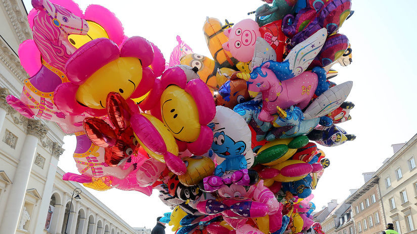balóny, šmolko, Poľsko,