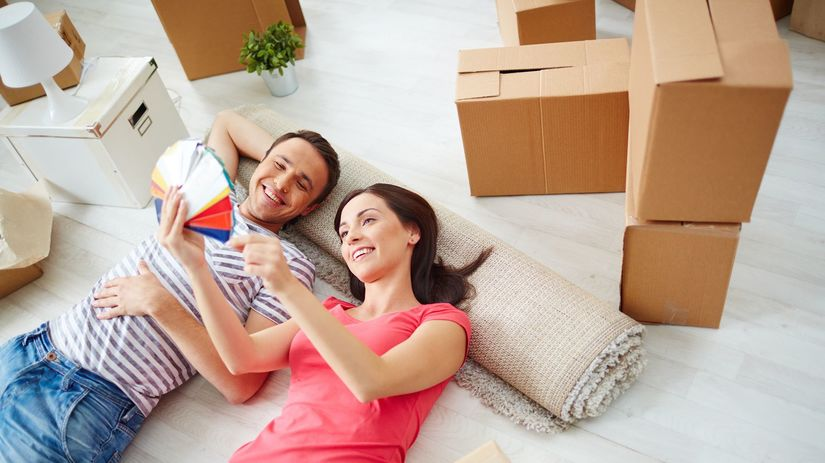 mladí, mladomanželia, pár, nový byt, bývanie,...
