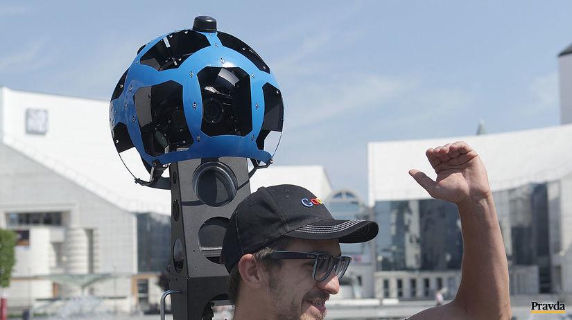 google, street wiev, Street View batoh (Trekker)