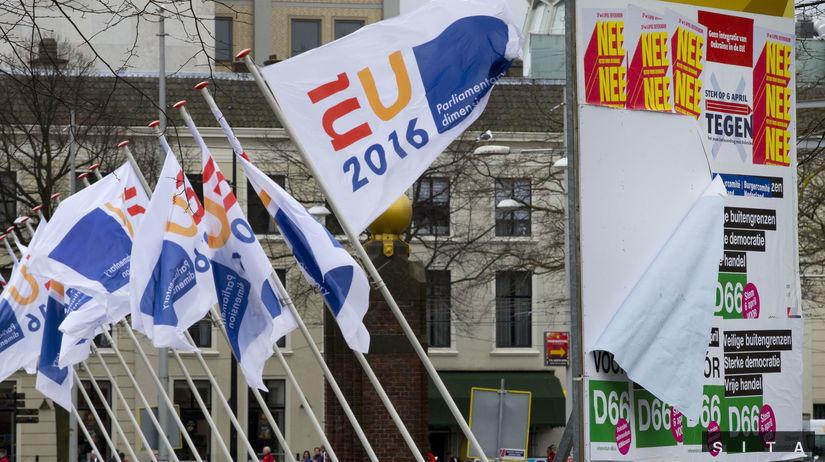 holandsko, referendum o Ukrajine, protest,...