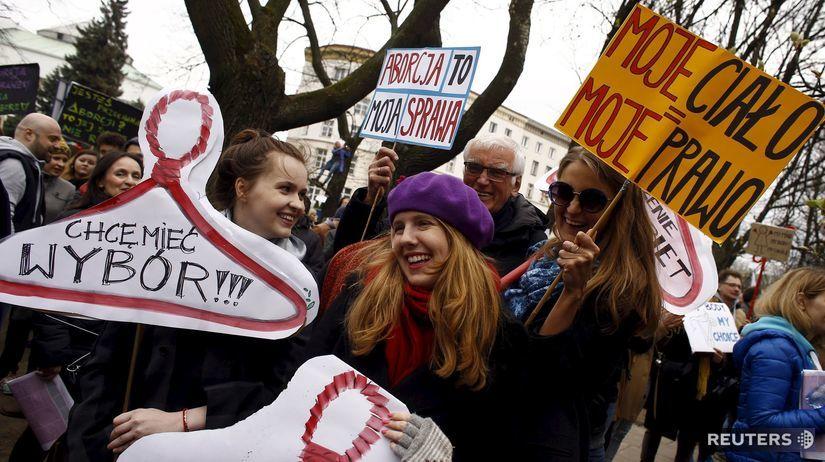 Varšava, demonštrácia, potrat, interrupcia