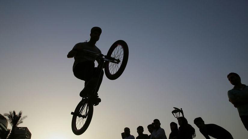 cyklista, libanon, bicykel