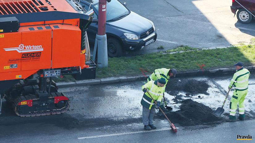 Bratislava, Trnavská cesta, oprava