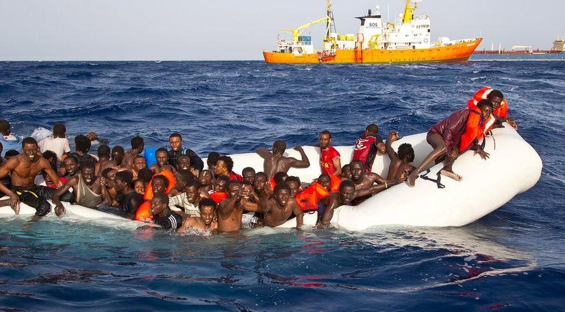 utečenci, lampedusa