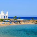 Cyprus, pobrežie Protaras, Aiya Napa, more, dovolenka, leto, pláž, ležadlá, piesok, NEST1 NEPOUZI