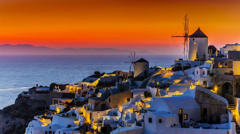Grécko, Santoríni, Oia, more, dovolenka, mlyn,...