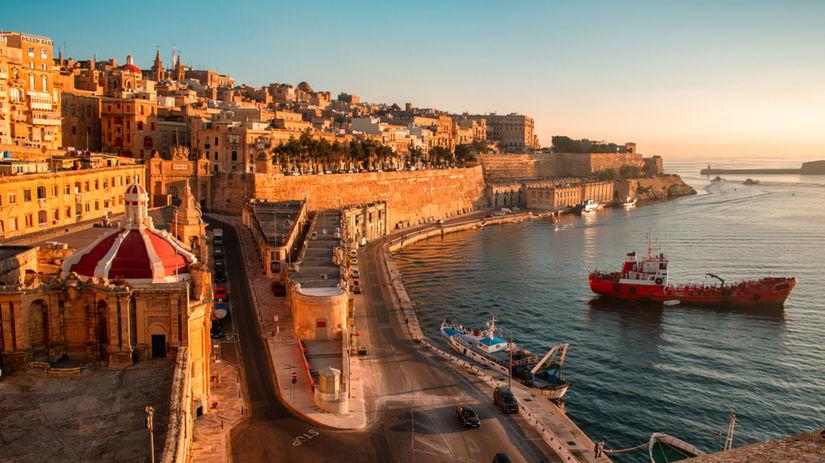 Malta, Valetta, hradby, more, vdovolenka, múry,...