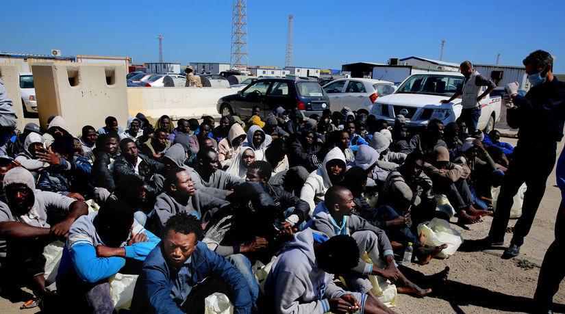 Líbya, utečenci