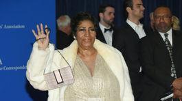 Speváčka Aretha Franklin.