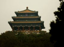 Čína, Peking, pagoda, turisti, návštevníci