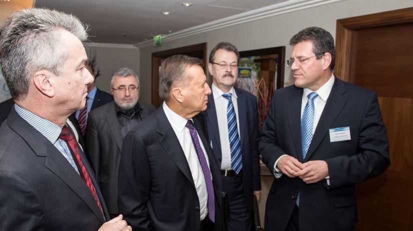 Viktor Zubkov, Maroš Šefčovič, Gazprom