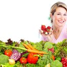 žena, zelenina, zdravie