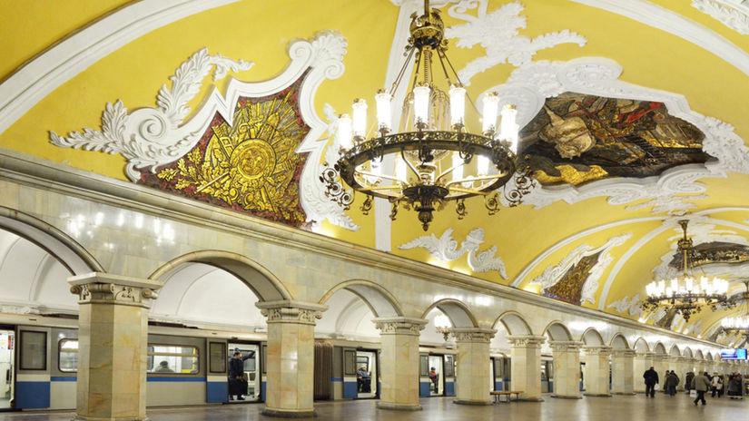 Moskva, metro, Rusko, transport, doprava