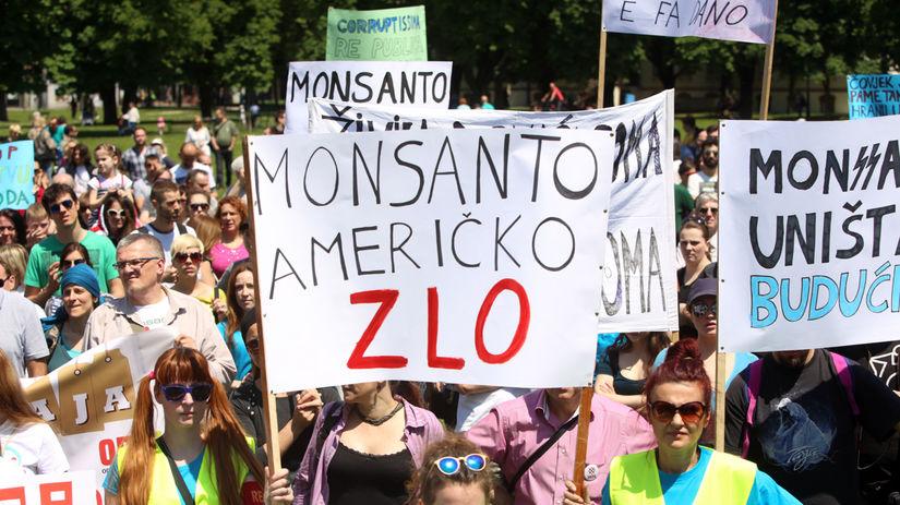 Monsanto, aktivisti, protest