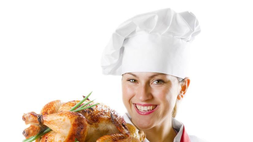 tanier, kuchár, varenie, pečené kura, obed,...