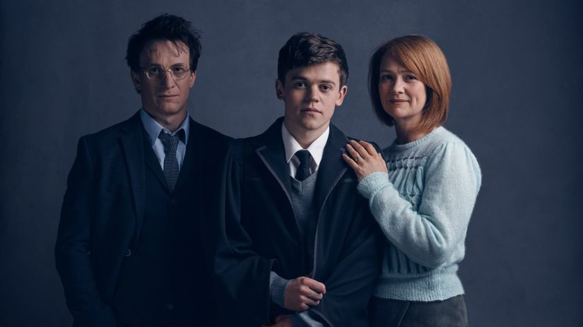 Potter divadlo cursed Zľava: Jamie Parker ako...