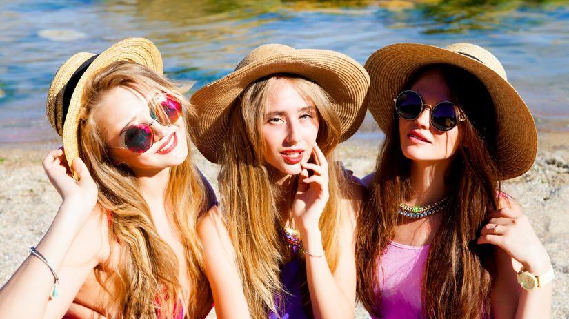 leto, dievčatá, klobúk, okuliare, móda