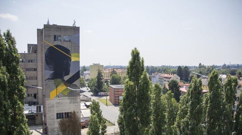 Muralistické dielo s názvom Gaze (Pohľad),...