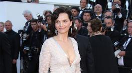 Herečka Juliette Binoche na zábere z filmového festivalu v Cannes.