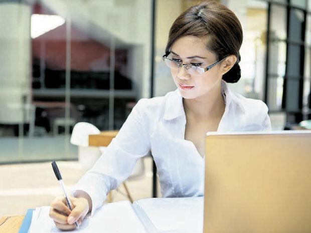 práca, počítač, podpis, zamestnávateľ, manažérka