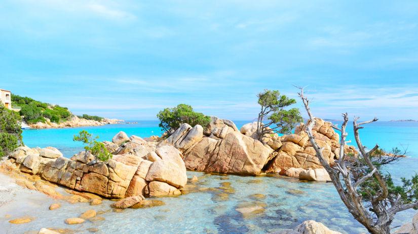 Sardínia, more, leto, oceán, skaly, pobrežie,...