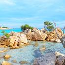 Sardínia, more, leto, oceán, skaly, pobrežie, pláž, dovoleka, leto, nebo,