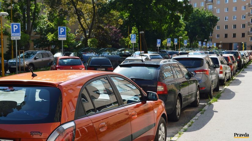 parkovanie, autá