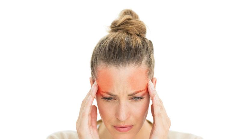 žena, bolesť, hlava