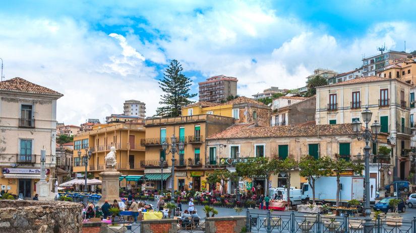 Taliansko, domy, mesto, Pizzo Calabro
