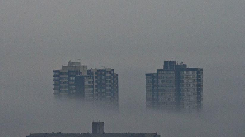Čile, smog, znečistenie, hmla, opar, mesto,...