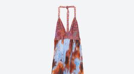 413118363866 Dámske vzorované dlhé šaty Zara