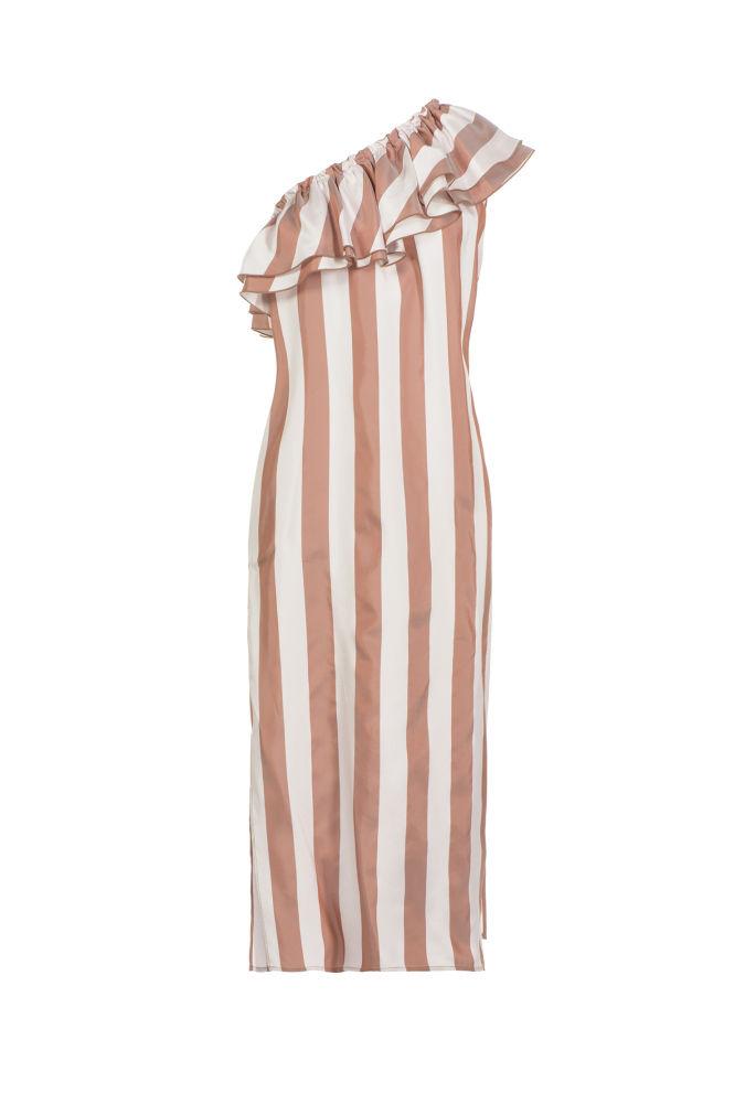 e0043a72f07e ... Prúžkované šaty na jedno rameno Pinko - cena pred zľavnením 392 eur.