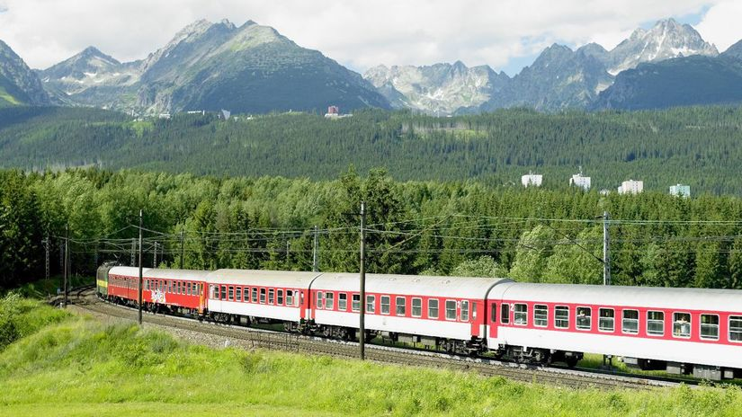 vlak, cesta, koľajnice, Tatry, trať,...
