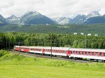 vlak, cesta, koľajnice, Tatry, trať, cestovanie, vagóny, doprava, železnica