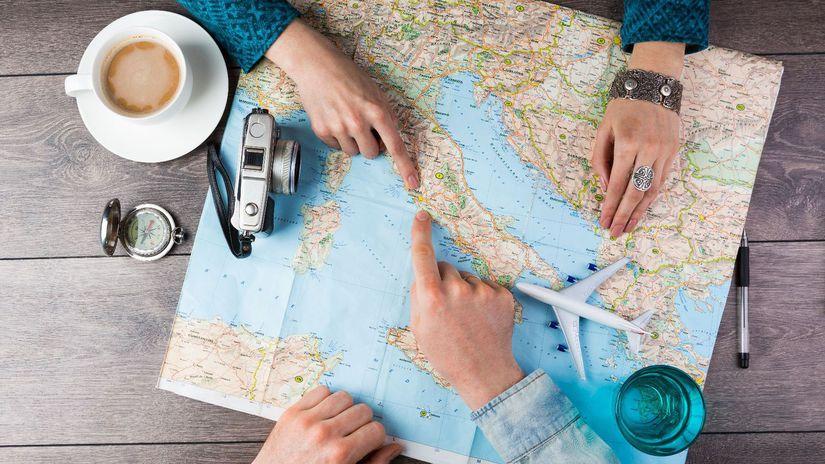 cestovanie, dovolenka, mapa, Taliansko, káva,...