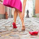 nohy, lýtka, chôdza, topánky, lodičky, kŕčové žily