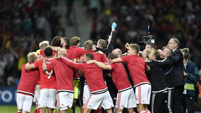 Euro 2016, Wales, futbal, radosť