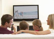 televízia, telka, rodina