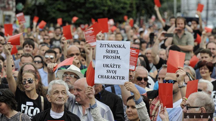 protest, košice