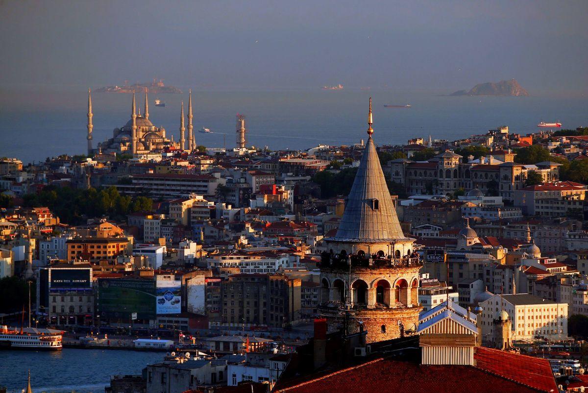 Istanbul, Turecko, mešita, Modrá mešita